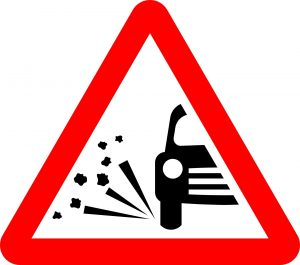 loose road surface