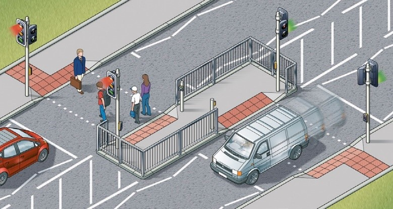 staggered crossings