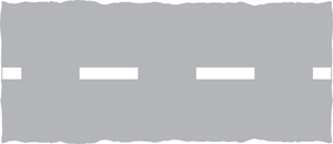 'Give Way' is shown by broken lines across the road. If these are at a roundabout then you should give way to traffic from the right: